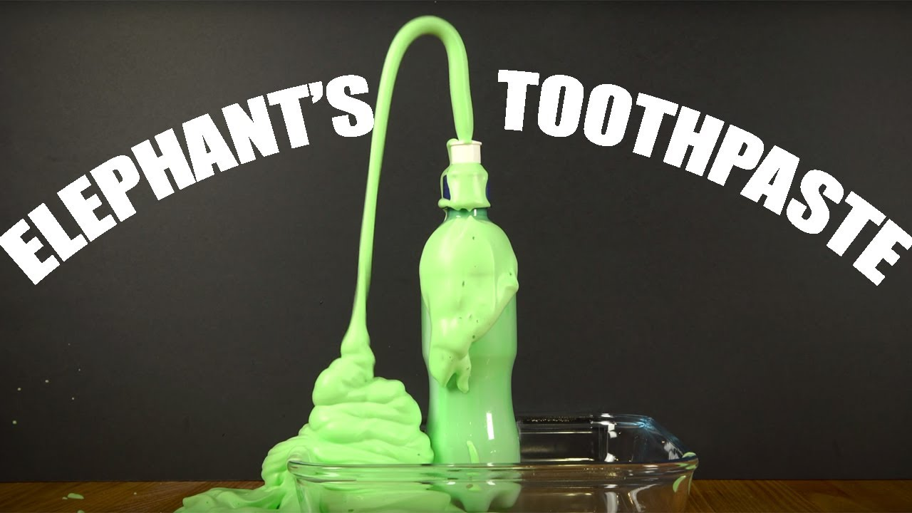 ELEPHANT\'S TOOTHPASTE: An impressive experiment you can try at home ...