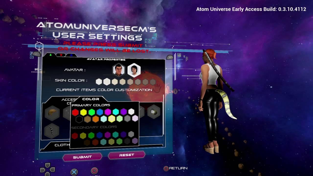 Gameplay color access code - Atom Universe Customization Update