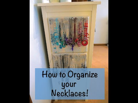 How to Organize Necklaces - DIY necklace organizer!