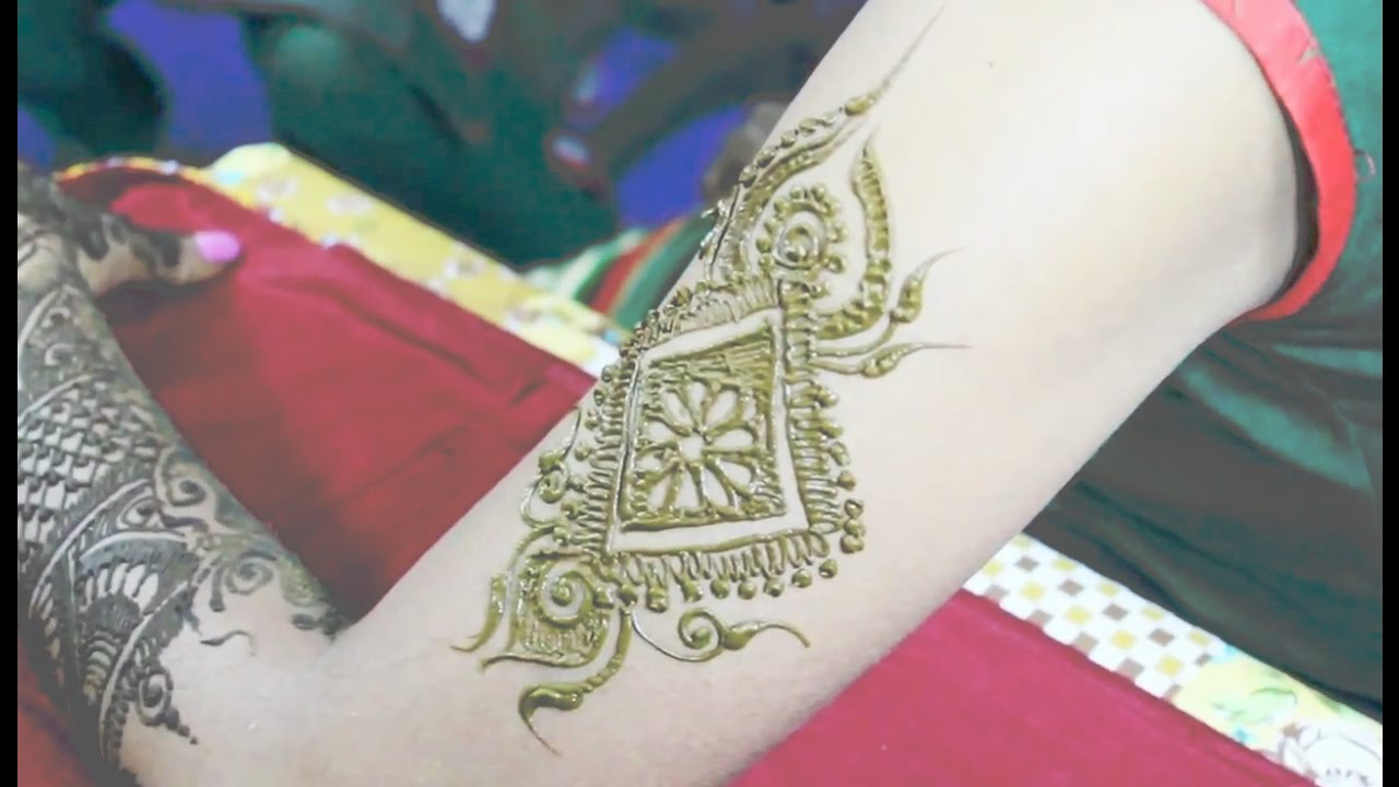 Simple Mehndi Designs For Shoulder Henna Tattoo Youtube