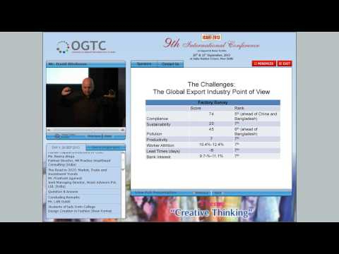 Competitiveness in Indian Apparel Industry - Mr David Birnbaum
