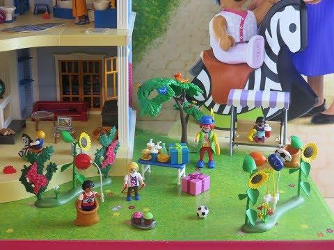 #playmobil-#kindergeburtstag-70212-mit-#clown-vom-#puppenhaus-70205