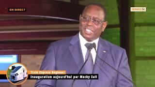 Inauguration TER Discours du Président Macky SALL