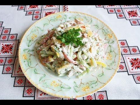 Салаты с курицей и овощами просто и полезно Салат з курки Салат из курицы Рецепты салатов с курицей