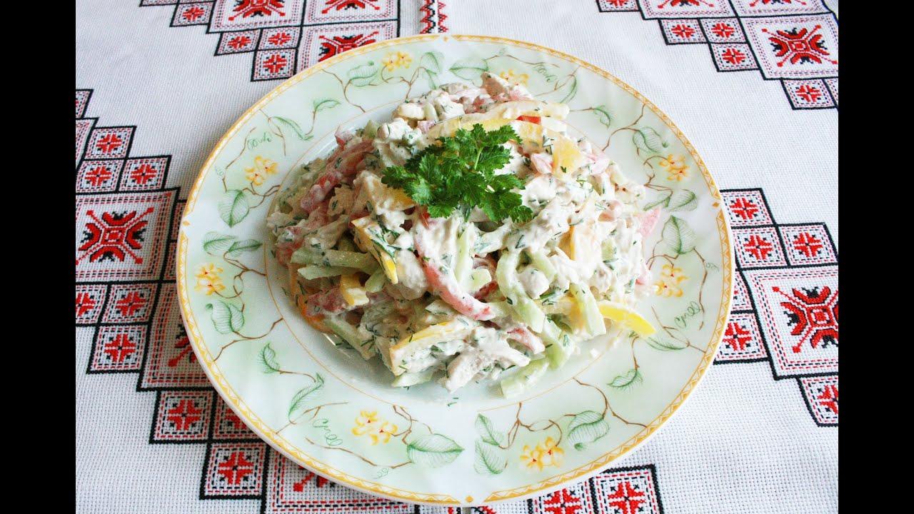 Салаты с курицей и овощами просто и полезно Салат з курки ...
