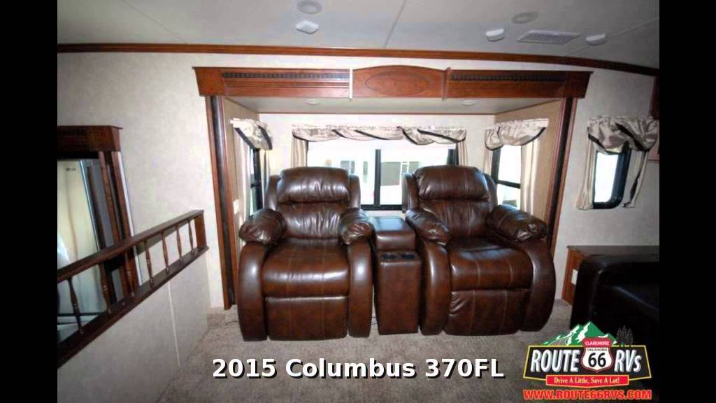 2015 Palomino Columbus 370fl Fifth Wheel Front Living Room In