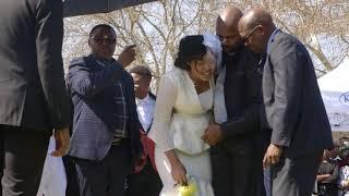 Dumisani Masilela's wife breaks down at husband's grave