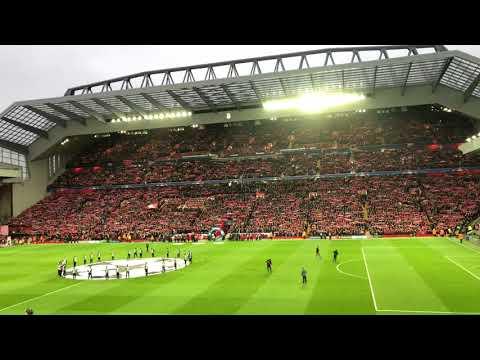 You'll never walk alone v Man City Champions League quarter finals 2018