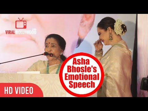 Asha Bhosle Emotional Speech On Yash Chopra | 5th Yash Chopra Memorial Award