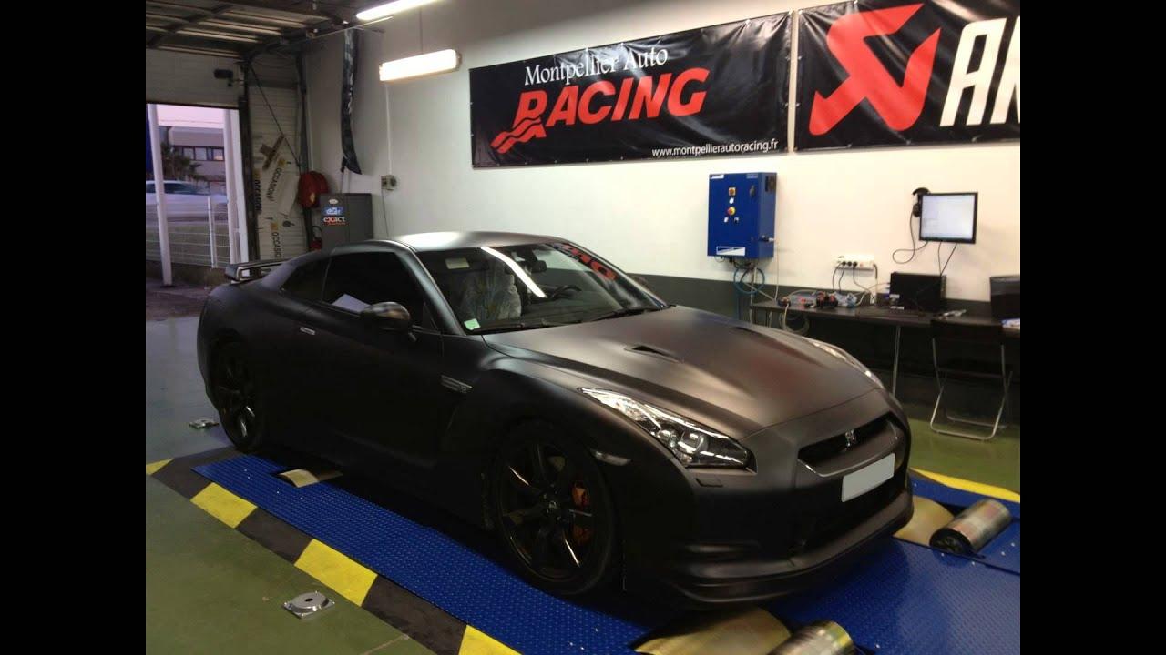 passage au banc de puissance nissan gtr r35 montpellier auto racing youtube. Black Bedroom Furniture Sets. Home Design Ideas