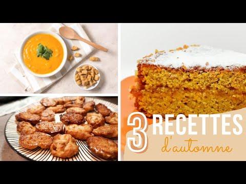 3-recettes-d'automne-🍂- -carrot-cake---velouté-de-potimarron---palmiers-sucrés