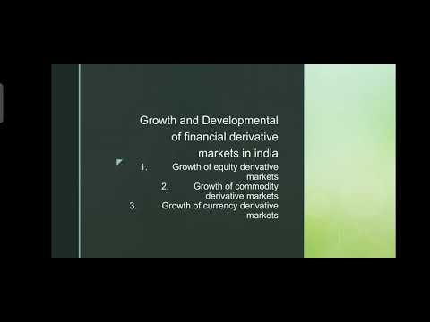 growth and development of financial derivatives