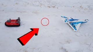 Самолет Против Судна На Воздушной Подушке ... Rc Plane Vs Hovercraft