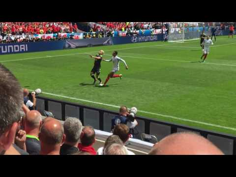 Wales v England  Aaron Ramsey and Deli Alli scrap