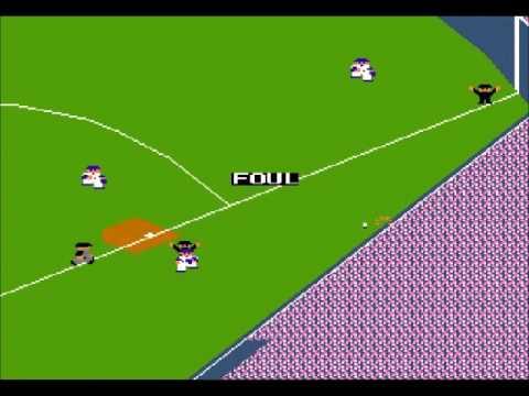 RBI Baseball - NES - Full Game AL vs NL (Bunt HR!)