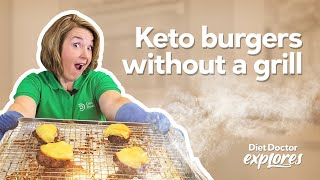 Diet Doctor Explores: How to make the best keto burgers without a grill