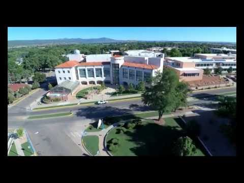 New Mexico Highlands University aerial view with a Autel X-Star Premium