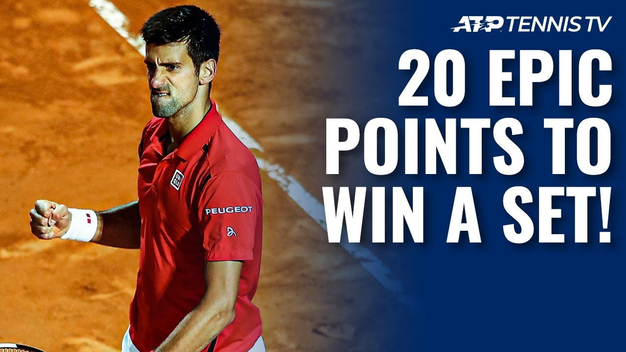 20 Times ATP Tennis Players Finished A Set IN STYLE!
