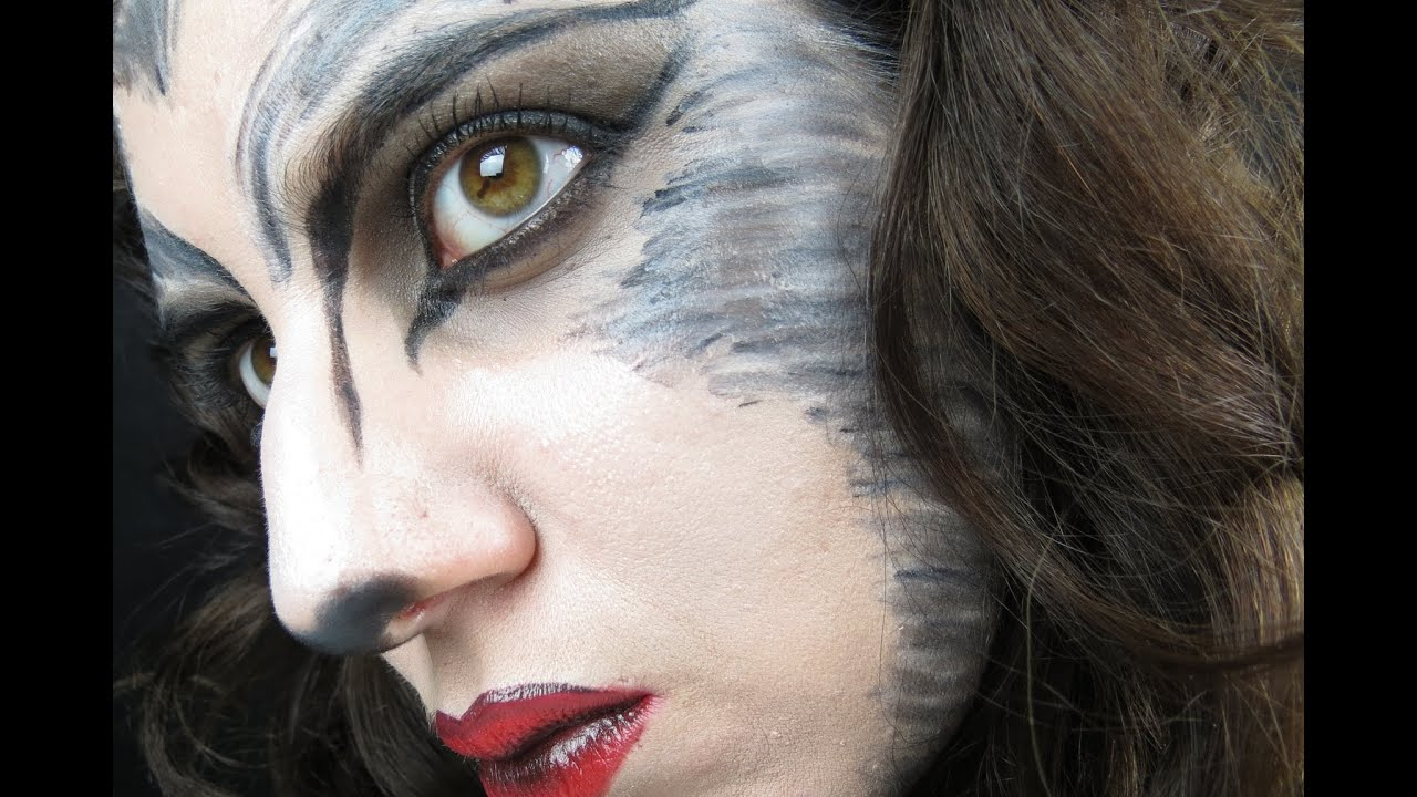 Halloween Female Werewolf Makeup Tutorial - YouTube