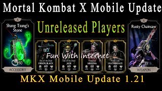 Mortal Kombat X Update 1.21 All New/Unreleased Characters Maxed Gameplay