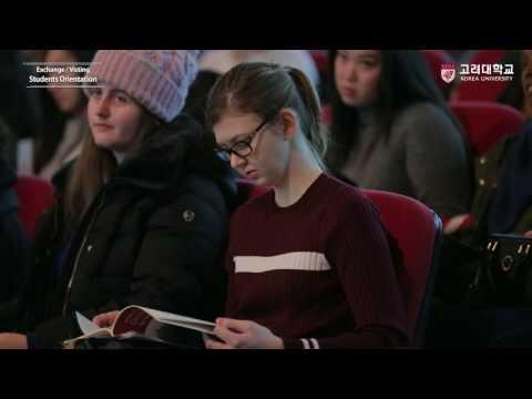 [고려대학교 Korea University] 2017 Exchange-Visting Students Orientation