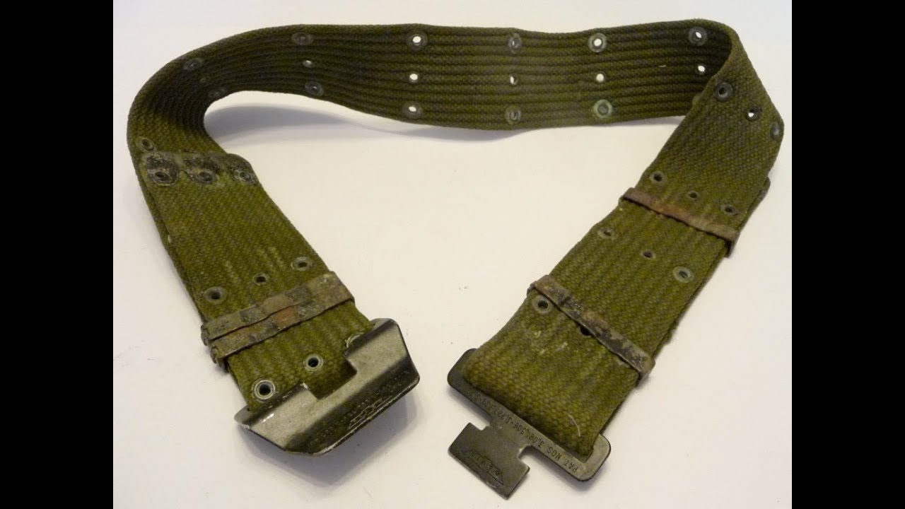 vietnam war GEAR ERA WEB US pistol ARMY CANVAS belt AND SIZE M FIELD buckle  VC 350f52bd88c