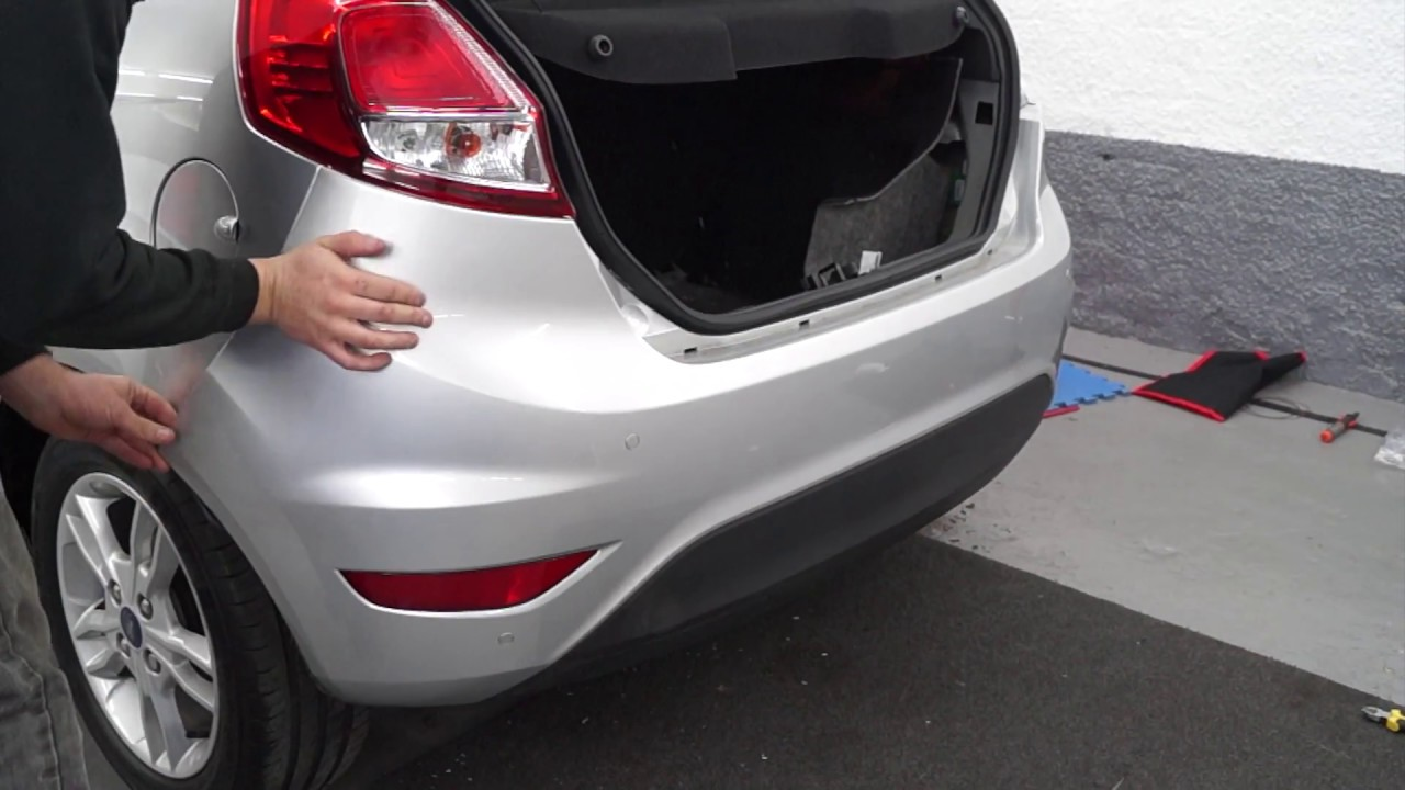 Car Backup Camera >> Rear Parking Sensor Installation - YouTube