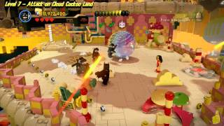 The Lego Movie Videogame: Lvl 7 Attack on Cloud Cuckoo Land - FREE PLAY -(Pants & Gold Manuals)- HTG
