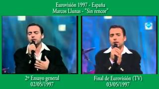 Ensayos generales Eurovisión - ¿Iguales o diferentes? - España 1997