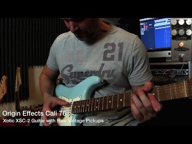 Quick video: Origin Effects Cali 76 in front of Kemper (Michael Britt profile)