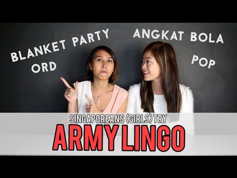 Singaporeans (Girls) Try: Army Lingo | EP 17