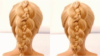 belles coiffures pour la nouvelle année Красивое плетение хвоста Прическа на новый год Beautiful