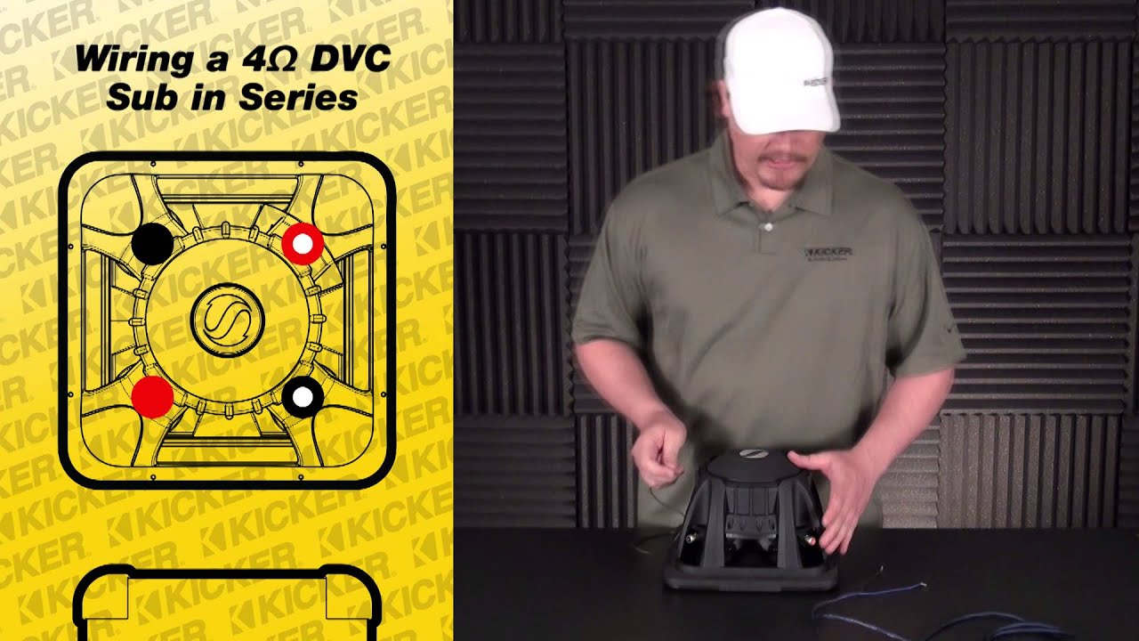 Subwoofer Wiring: One 4 ohm Dual Voice Coil Sub in Series - YouTube