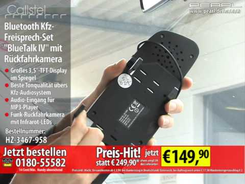 callstel bluetooth kfz freisprech set bluetalk iv mit r ckfahrkamera youtube. Black Bedroom Furniture Sets. Home Design Ideas