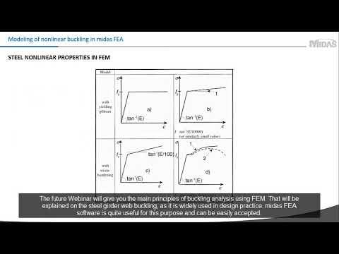 [midas FEA] Local buckling simulation of plate girder webs in midas FEA