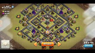 2018 Clash of Clans. TH9 war. X-spin. #40 - Gopeho and Falcon with golem.