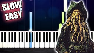 Pirates of the Caribbean 2 - Davy Jones - SLOW EASY Piano Tutorial by PlutaX