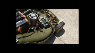 DIY Cordless Electric Lawn Mower Lithium battery conversion Pt 1