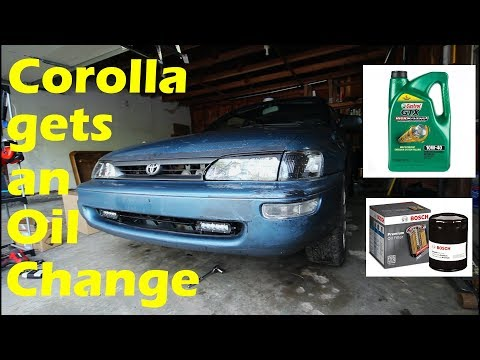 How To Do An Oil Change '91 - '98 Toyota Corolla