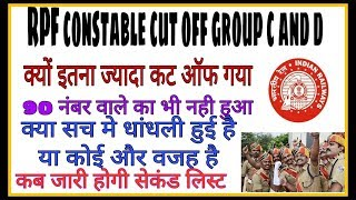 RPF CONSTABLE GROUP C AND D CUT OFF