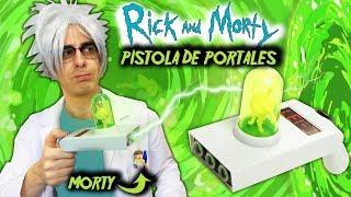 Abro PISTOLA DE PORTALES de Rick y Morty   Qué Hay Dentro?