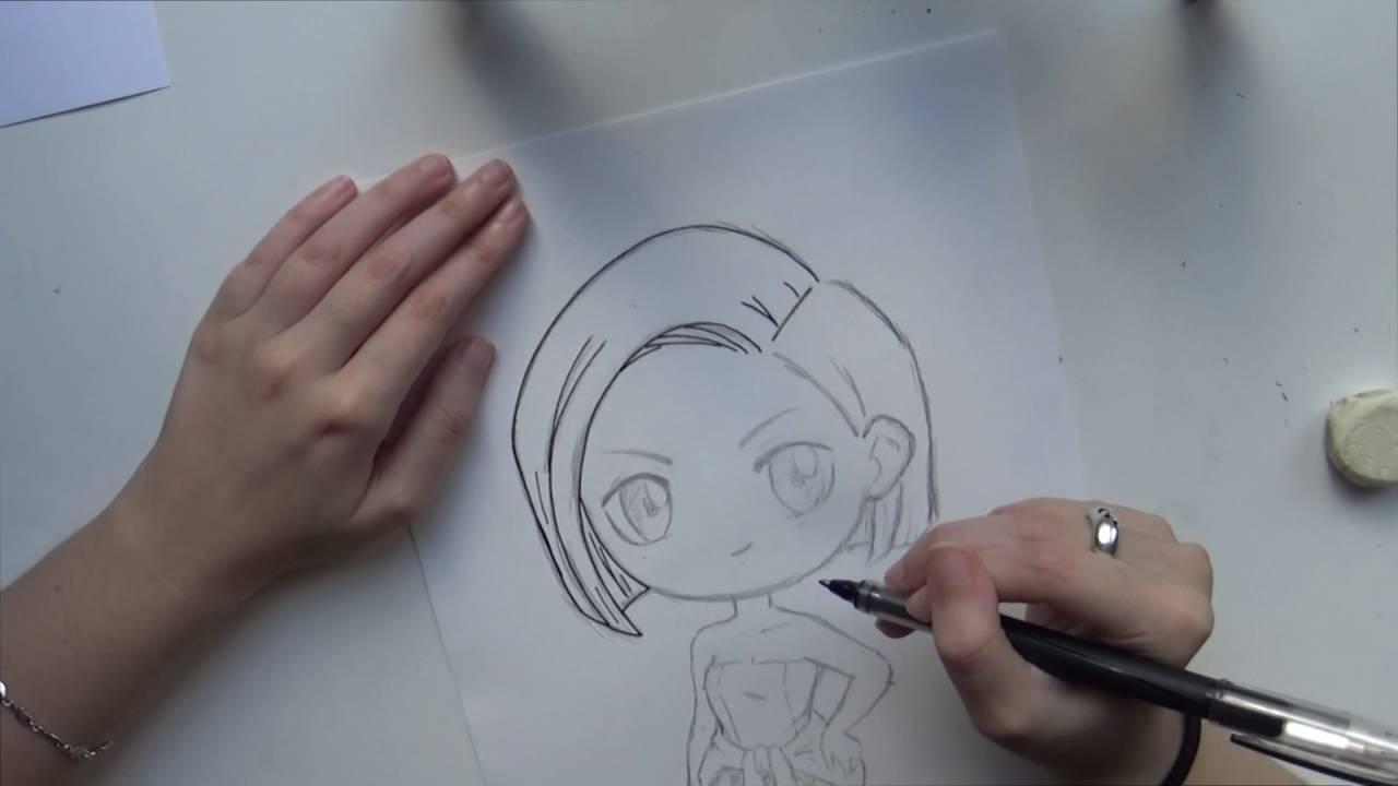 Speed Drawing Chibi Jill Resident Evil 3 Youtube