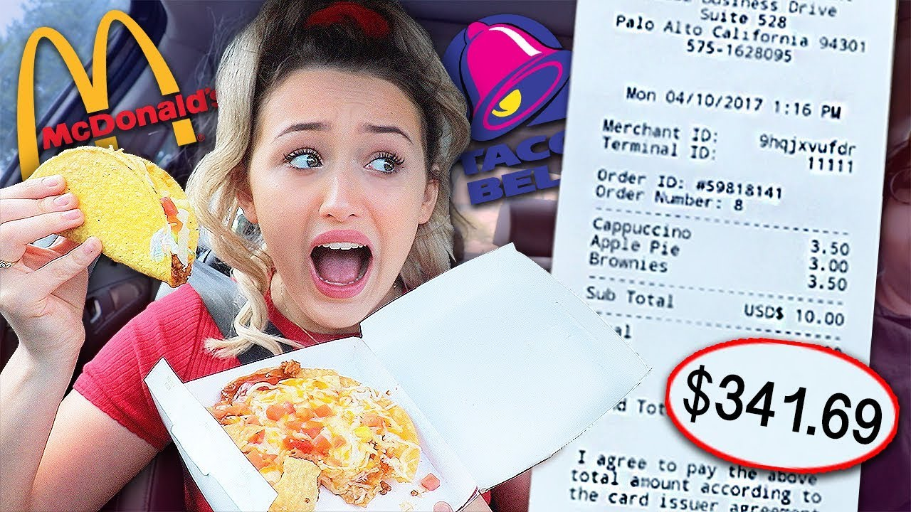 Letting The Person in Front of Me DECIDE What I Eat for 24 HOURS! *GROSS*