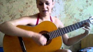 Аня играет на гитаре (АРИЯ-Беспечный ангел)