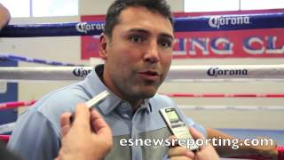 oscar de la hoya on the future of marcos el chino maidana *spanish*