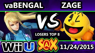 S@X 125 - Zage (Pac-Man) Vs, mMm | vaBengal (Zero Suit) SSB4 Losers Top 8 - Smash Wii U - Smash 4