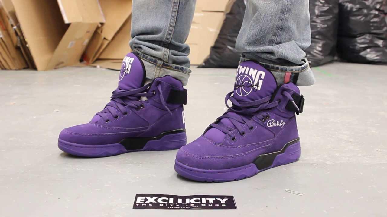 purple patrick ewing shoes