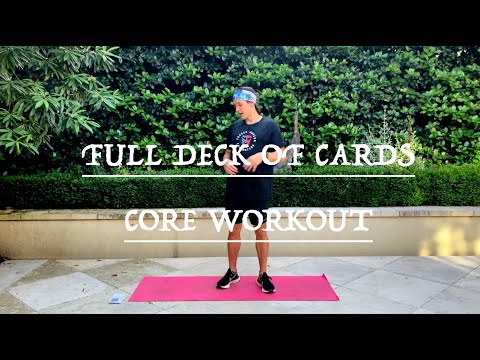 GOOD WORKOUTS FULL DECK OF CARDS WORKOUT CORE WORKOUT STRENGTH AND TONING AT HOME