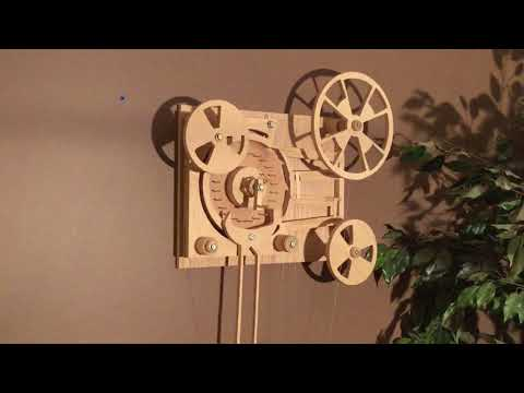 Marble Machine Marblematic wall hung weight powered escapement driven