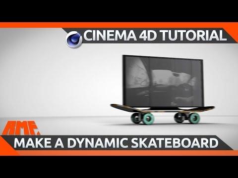 Cinema 4D Tutorial - How to make a dynamic skateboard